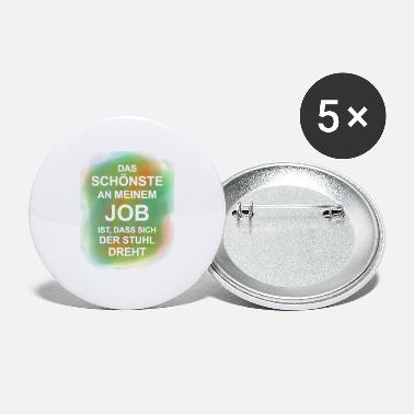 Funny Proverbs Office Official Job Job Gradient - Buttons klein