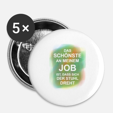 Ambtenaar Funny Proverbs Office Official Job Job Gradient - Buttons klein 25 mm (5-pack)