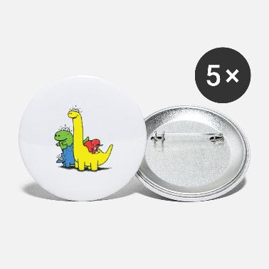 Dino Gang, Colored - Small Buttons