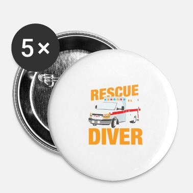 Diver rescue diver - Spilla piccola 25 mm