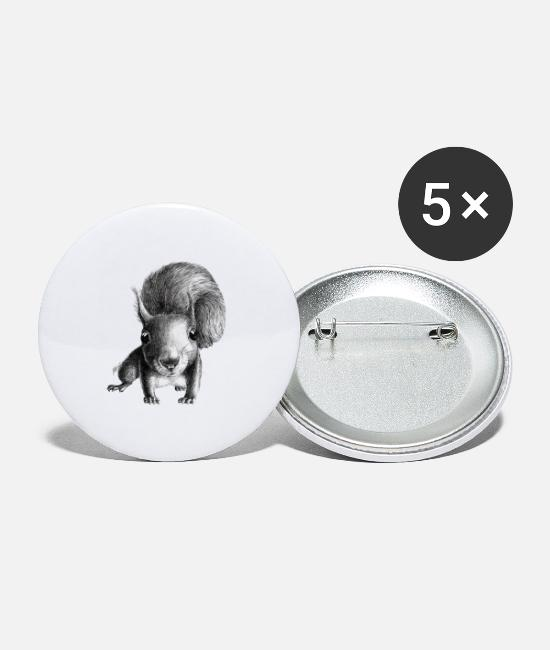 Hollywood Buttons - curious squirrel - Small Buttons white