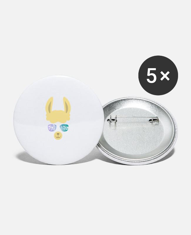 Teenager Buttons - lama - Buttons klein wit
