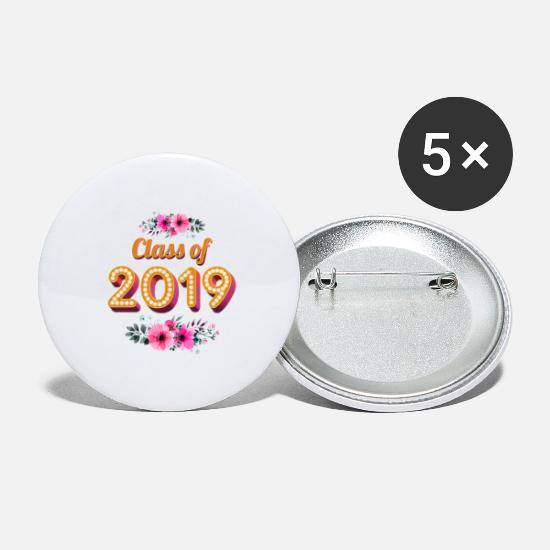 Class Buttons - Class Of 2019 - Small Buttons white