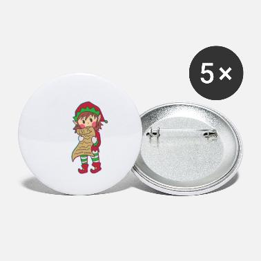 Workshop Christmas Elves North Pole Help Children Gift - Small Buttons