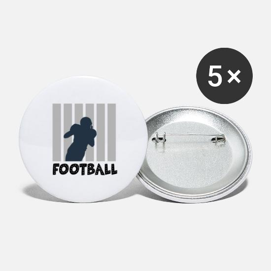 American Football Buttons - Football rugby - Small Buttons white