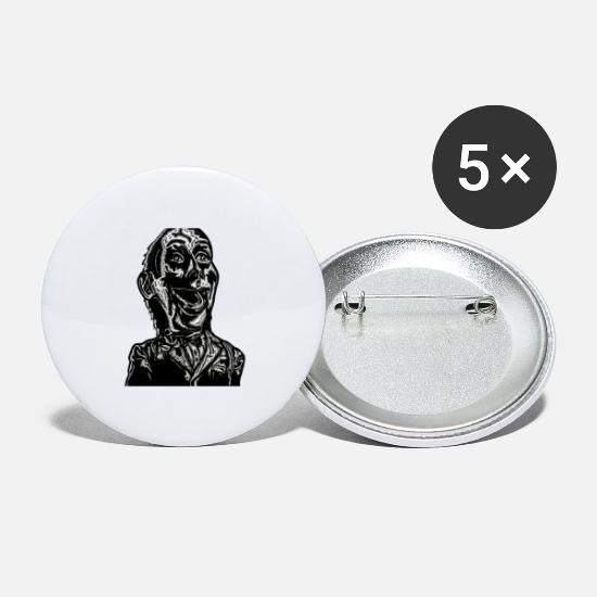 Clap De Film Badges - FANTOCHE - Petits badges blanc