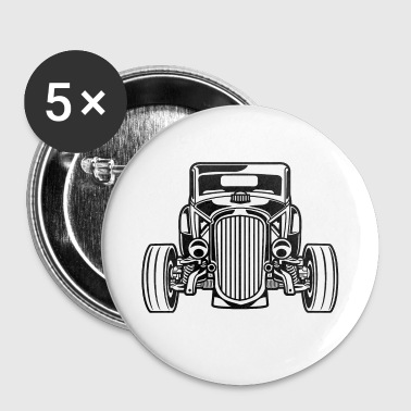 Hot Rod / Rat Rod 07_black - Buttons small 25 mm