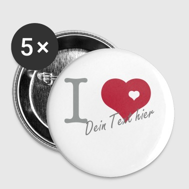 i love - Buttons/Badges lille, 25 mm