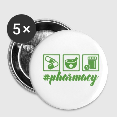 Pharmacy / Pharmacist: #pharmacy - Buttons small 25 mm