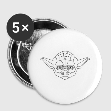 Yoda Icon: black - Buttons small 25 mm