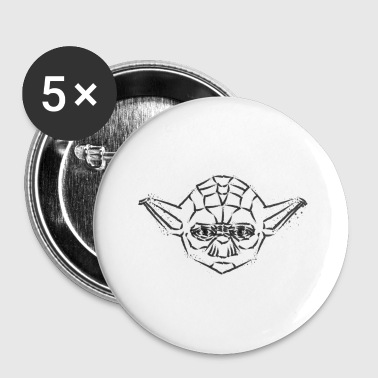 Yoda Icon playful: black - Buttons small 25 mm