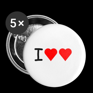 I love love - Buttons klein 25 mm
