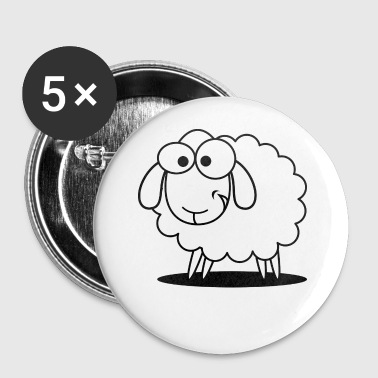 sheep,schaf, - Buttons klein 25 mm