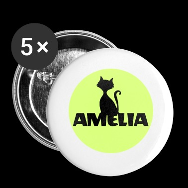Amelia First name Name Name Motif Christening godfather - Buttons small 25 mm