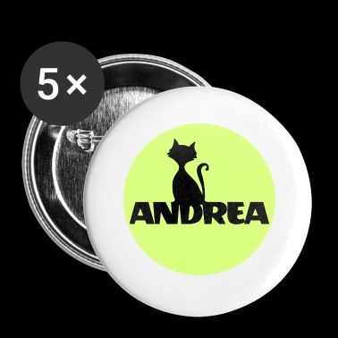 Andrea First name Names Name gifts Christening gifts - Buttons small 25 mm
