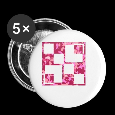 Pink camouflage - Buttons klein 25 mm