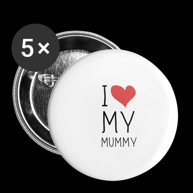I Love luv Mummy Mama BLACK LABELED - Buttons klein 25 mm