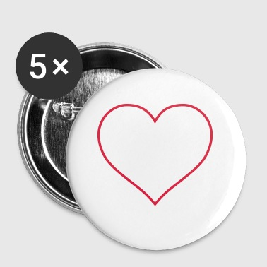 contour de coeur - Badge petit 25 mm