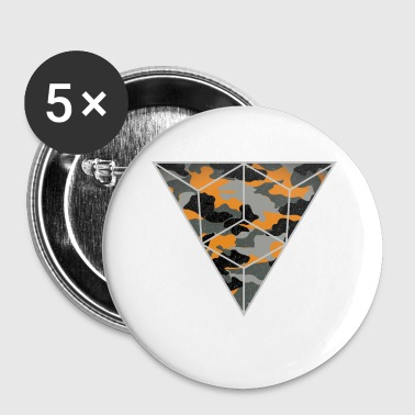 camouflage triangle - Buttons klein 25 mm