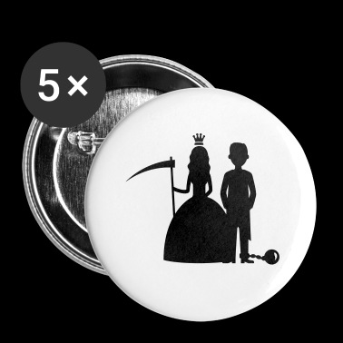 bride groom - Buttons small 25 mm