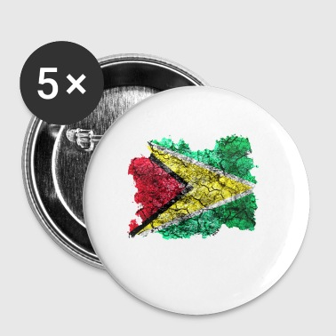Guyana vintage flag - Buttons small 25 mm