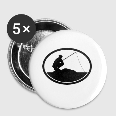 Ecusson pecheur - Badge petit 25 mm