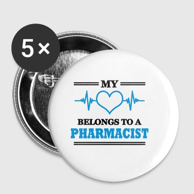 My heart belongs to a pharmacist - Buttons klein 25 mm