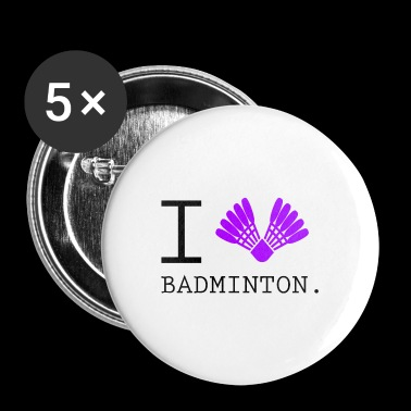 I love love Badminton - Buttons klein 25 mm