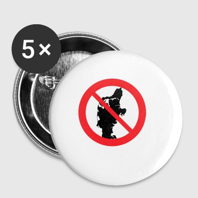 Badge - Jutland prohibited - Buttons small 25 mm