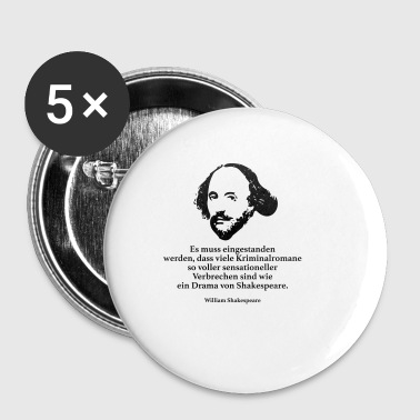 Shakespeare: It must be admitted that vi - Buttons small 25 mm