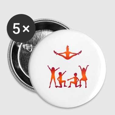 Un groupe de cheerleaders - Badge petit 25 mm