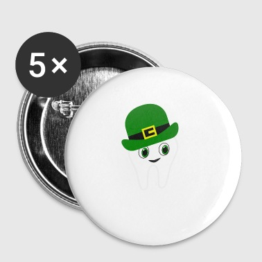 Divertente Irish American Dentist St Patrick's Day - Spilla piccola 25 mm