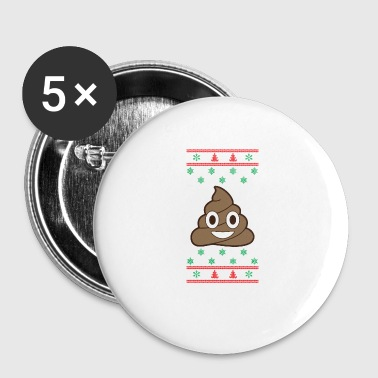 Poop Emoji Christmas Ugly Sweater Christmas - Buttons klein 25 mm