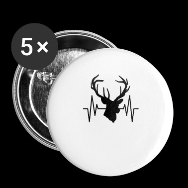 Heartbeats Stag Party Gift - Buttons small 25 mm