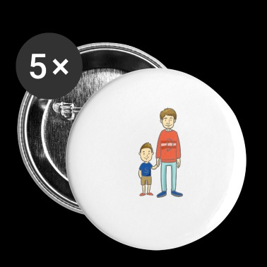 Son and Dad - son with dad - Buttons small 25 mm