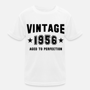 VINTAGE 1956 - Birthday - Aged To Perfection - Kinder Funktions-T-Shirt