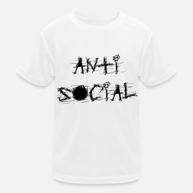 Anti Anti-Social - Kinder Funktions-T-Shirt