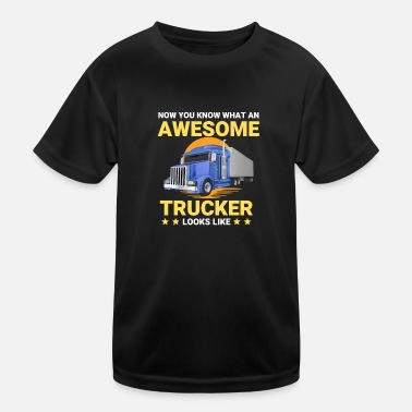 Awesome Trucker Big Rig semi-trailer - Kids Functional T-Shirt