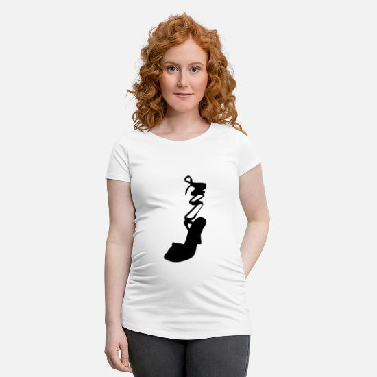 Woman Power T-Shirts - Vector highheels Silhouette - Maternity T-Shirt white