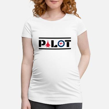 Airline Aircraft Nose Art Pilot Australia Kangaroo Circle - Maternity T-Shirt