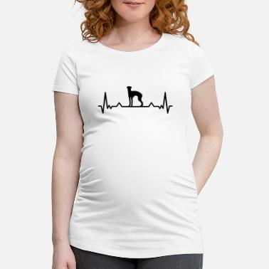 England Whippet heartbeat British greyhound gift - Maternity T-Shirt