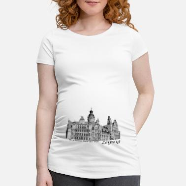 Town Hall Leipzig City Hall with signature - Women's Pregnancy T-Shirt