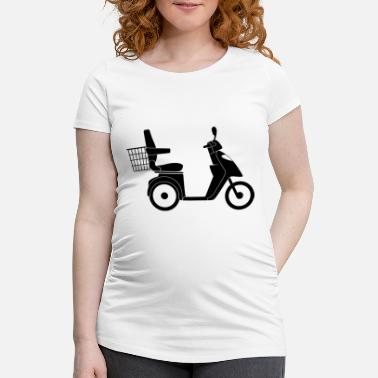 Pictogram Motorcycle Scooter - Women's Pregnancy T-Shirt