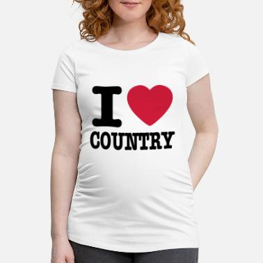 Country i love country / i heart country - Gravid T-skjorte