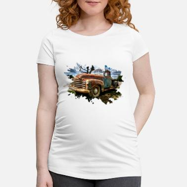 Pickup Line Old Pickup Truck - Maternity T-Shirt