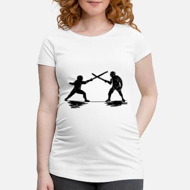 Sword Fight fencing sword sword duel arena sword fighting - Maternity T-Shirt
