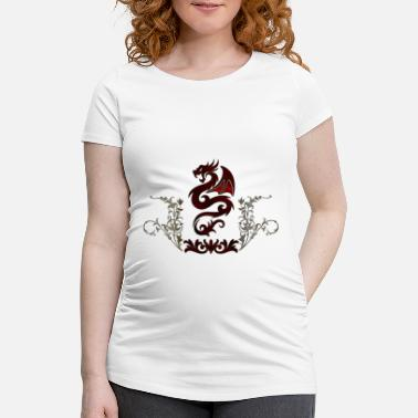 Wonderful decorative chinese dragon - Maternity T-Shirt