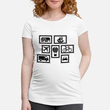 Stamp Stamps - Maternity T-Shirt