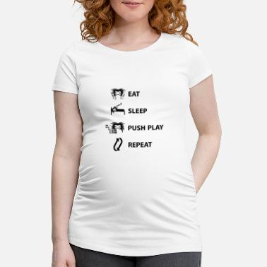 Eat Sleep Play Push gentagelse - Vente-T-shirt
