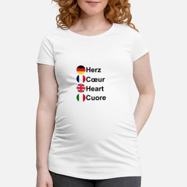 Cuore Heart Coeur Heart Cuore - Maternity T-Shirt